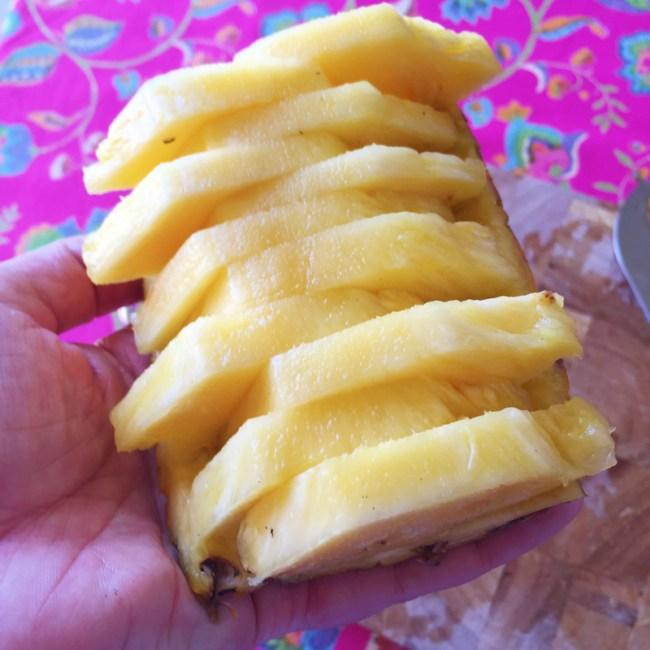 pineapple plates make for easy serving