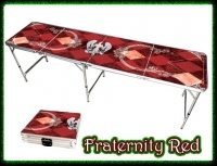 beer pong tables - red