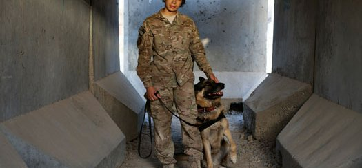 AIR FORCE STAFF SGT. KATHELENE MERCADO WITH BARTJA