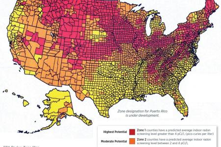 map of radon zones for texas pictures to pin on pinterest