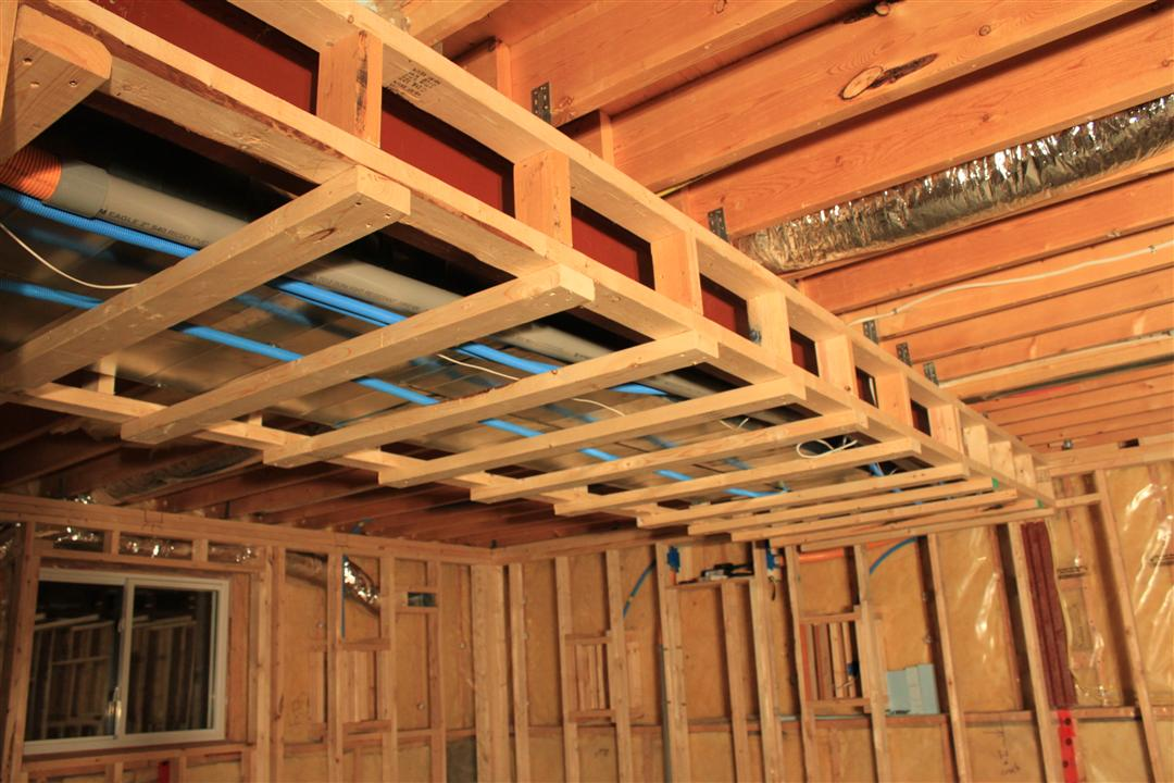 basement soffits and how to build them