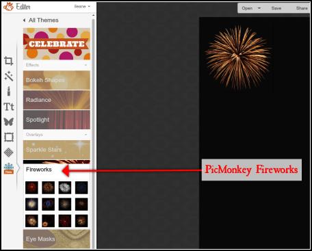 PicMonkey Fireworks