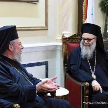 Patriarhul Ioan al Antiohiei in vizita oficiala in Cipru