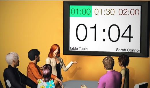 Speech Timer Projection