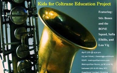 The Kids for Coltrane Fundraiser in NYC