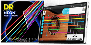 DR Launches NEW NEON Multi Color Bass Strings and Jamstar Mobile Technology Together for Music Education