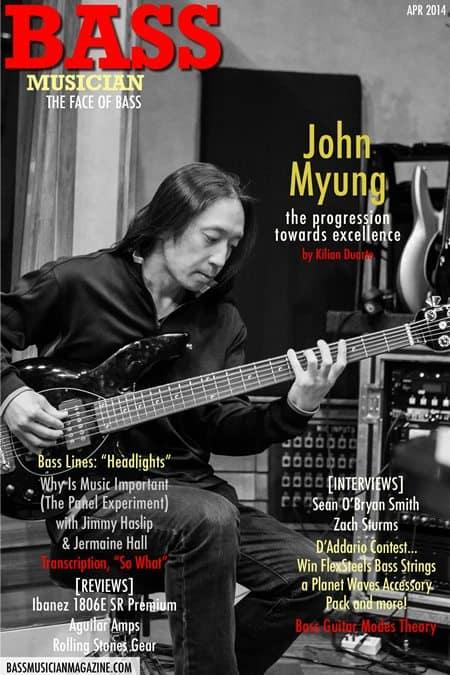 John Myung - Bass Musician Magazine - April 2014
