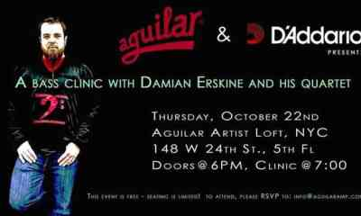 Aguilar Amplification And D'Addario Announce A Clinic With Bassist Damian