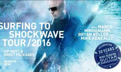 Joe Satriani Announces MORE Surfing to Shockwave Tour with Bryan Beller on Bass