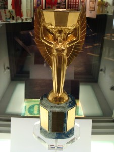 One of the Replicas of the original World Cup trophy