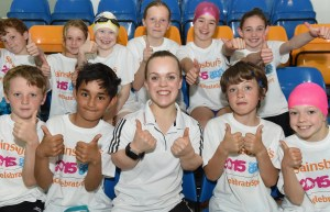 The Paralympic star is currently on a nationwide tour to encourage school children by be active