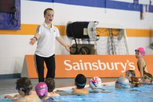 Paralympic Champion Ellie Simmonds held a swimming lesson at the University of Bath