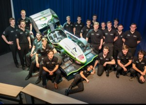 The TBR15 team with their car that will compete across Europe this summer