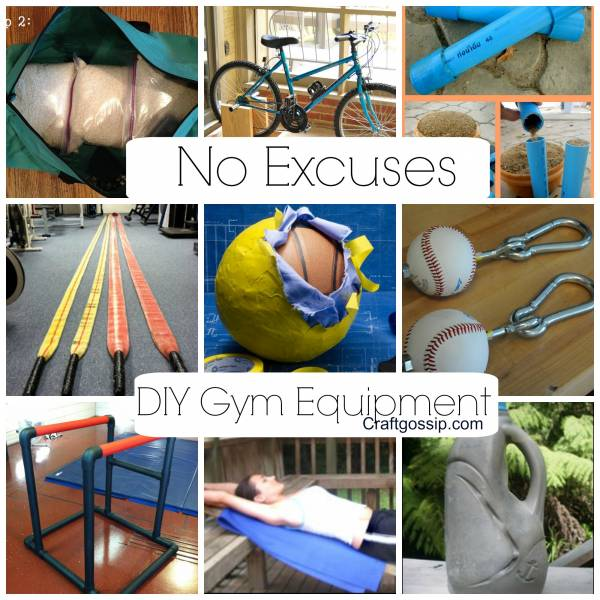 Diy gym equipment no more excuses bath and body for How to create a home gym