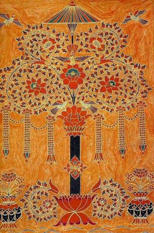 batik lampung motif tree of life