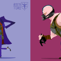 Artist creates animated cartoons of classic Batman movie villains