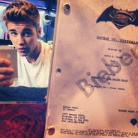 Justin Bieber teases 'Batman vs. Superman' script on Instagram (photo)