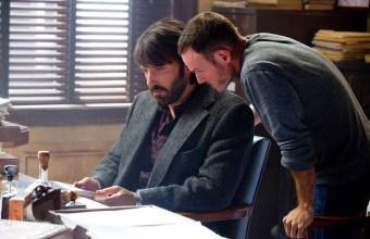 Ben Affleck and Chris Terrio on the set of Argo