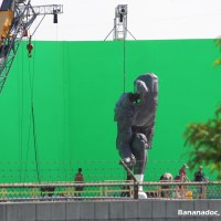 There's a giant Superman statue and green screen on set of 'Batman v Superman: Dawn of Justice' (photos)
