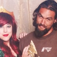 Jason Momoa does not look pleased posing with Aquaman's trident (photo)