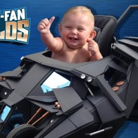 These guys built a Batman baby stroller that looks like the Batmobile (video)