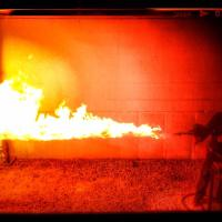 'Suicide Squad' director shares behind-the-scenes photo of flamethrower test