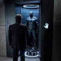 Ben Affleck stares at the Batman in hi-res 'Batman v Superman' images