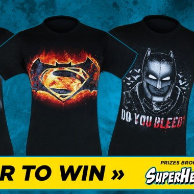 Giveaway: Win 'Batman v Superman' shirts courtesy of SuperHeroStuff