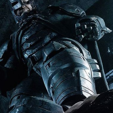 A beaten Batman has his foot at Superman's throat in epic new image