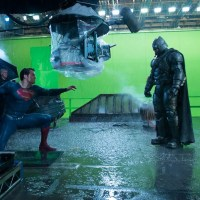 'Batman v Superman' rooftop fight behind-the-scenes photo
