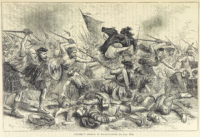 Lochiel's charge at Killycrankie
