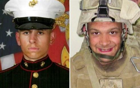 Lance Cpl. Jordan Haerter, left, and Cpl. Jonathan Yale, right (Marine Corps)