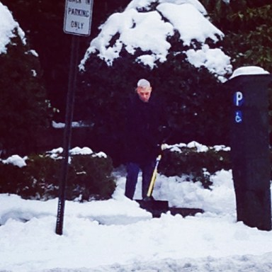 Paxton shoveling