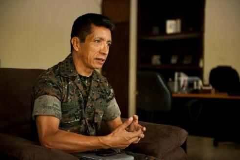 Col. Medardo Monterroso Suarez, commandant of the Guatemalan marine corps, probably rolls his sleeves better than you. (Mike Morones/Staff)