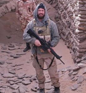 Then-SO2 Chris Heben during a post-9/11 deployment to Pakistan.