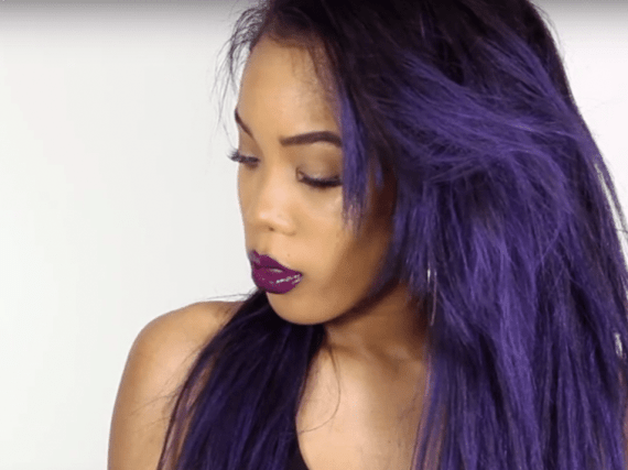 DIY: How to Get Killer Ombre Purple Hair Without Using Permanent Dyes