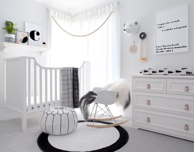 quarto infantil preto e branco 17 ideias para se inspirar ba de menino. Black Bedroom Furniture Sets. Home Design Ideas