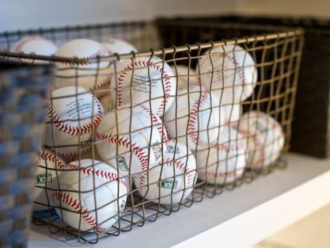 cestos para guardar e organizar bolas