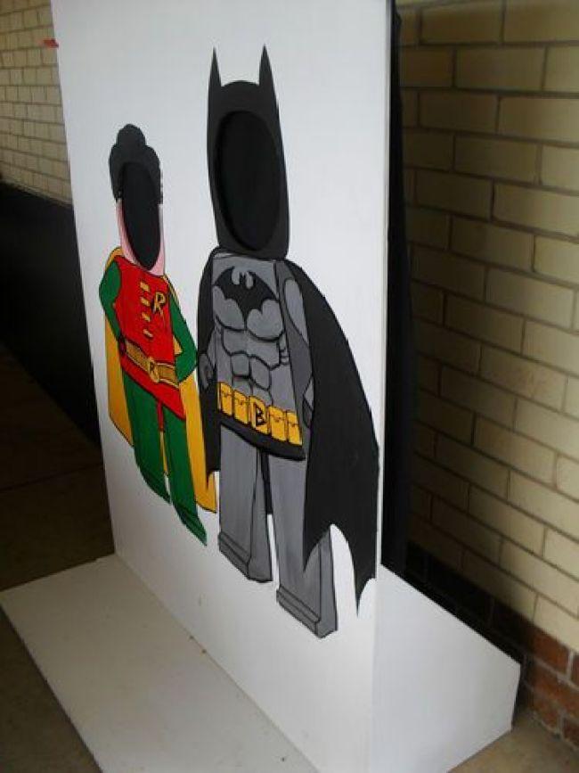 painel para fotos festa lego batman