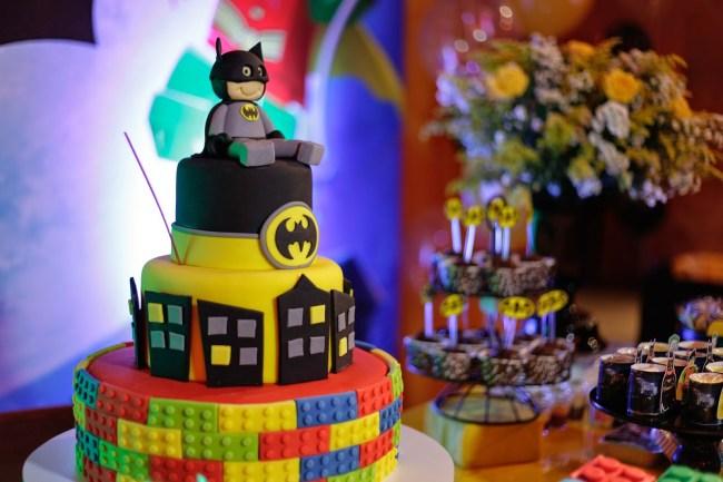 bolo festa lego batman