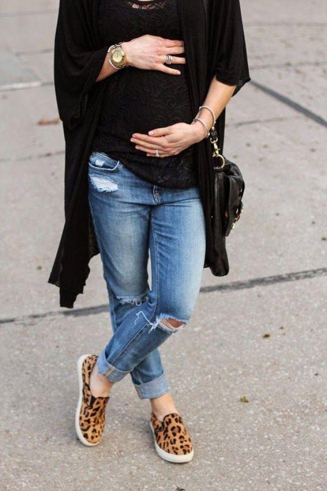 calça jeans para grávidas