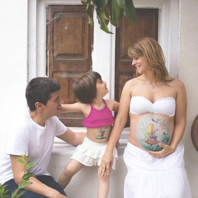 arte em barriga de grávida