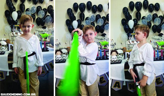 como improvisar fantasia Star Wars para criança