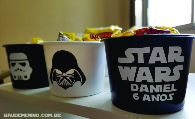 balde de pipoca festa star wars