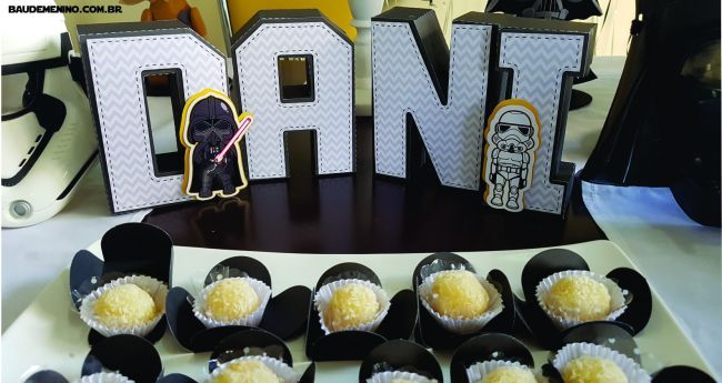 letras 3D festa Star Wars do Daniel