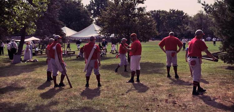 BCBBC warmup at Greenfield Village