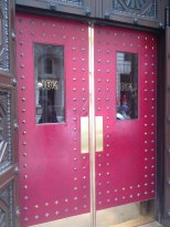 The exterior doors. We thought they looked very Harry Potter.