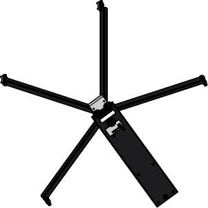 Low Profile Black Flash Dryer Stand