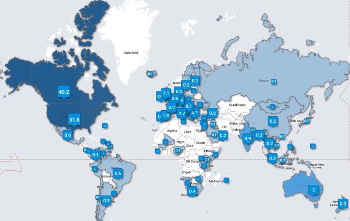Tweet followers MAP
