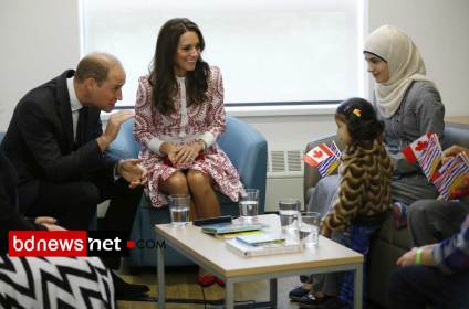 Prince William & Kate mate  with a Syrian refugee family – Canada Tour 2016